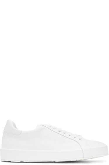 Jil Sander - White Leather Sneakers
