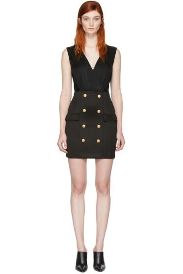 Balmain - Black Gold Buttons Dress