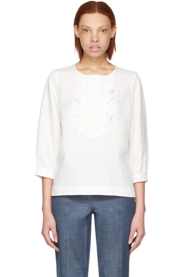 A.P.C. - White Cleo Blouse