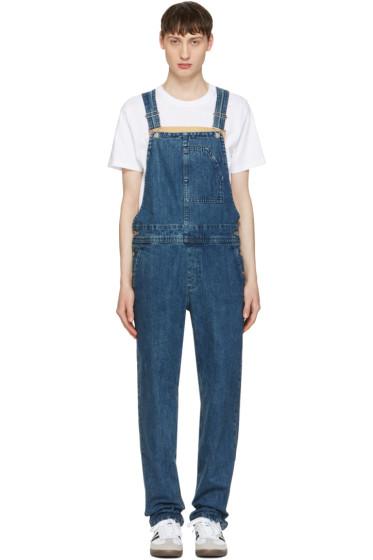 A.P.C. - Indigo Denim Florian Overall Jeans