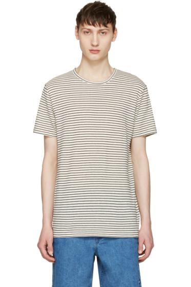 A.P.C. - Ecru Striped Paul T-Shirt