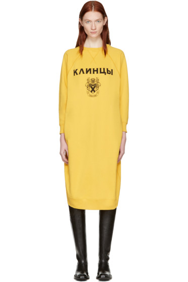 Junya Watanabe - Yellow Pullover Dress