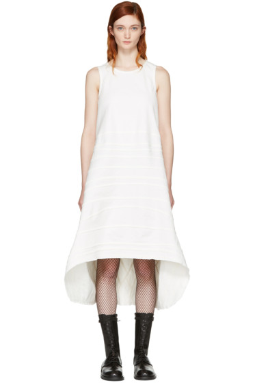 Junya Watanabe - White Denim Seam Stripe Dress