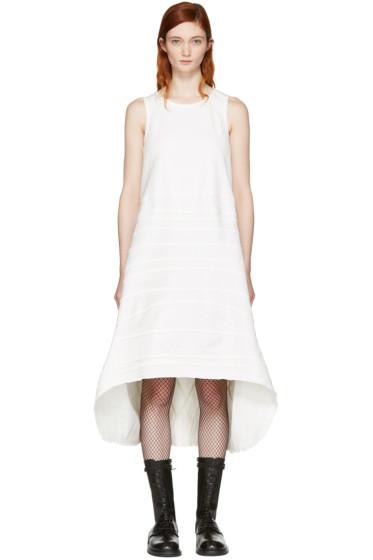 Junya Watanabe - ホワイト デニム シーム ストライプ ドレス