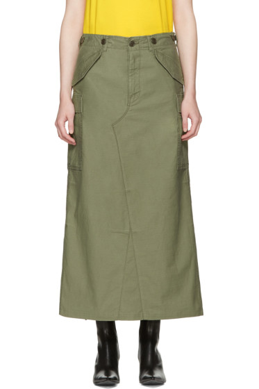Junya Watanabe - Green Cargo Skirt