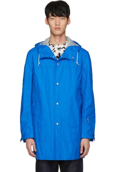 Junya Watanabe - Blue Coated Linen Raincoat