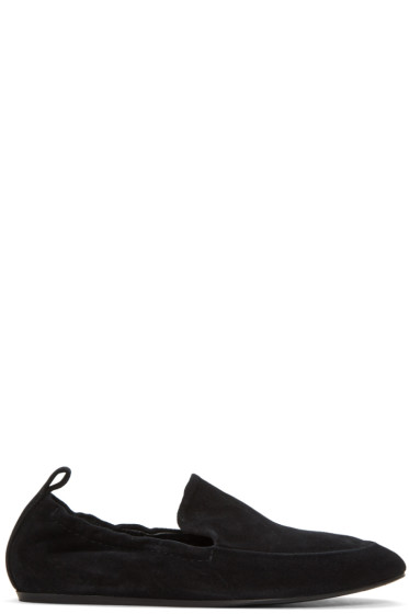 Lanvin - Black Suede Classic Loafers