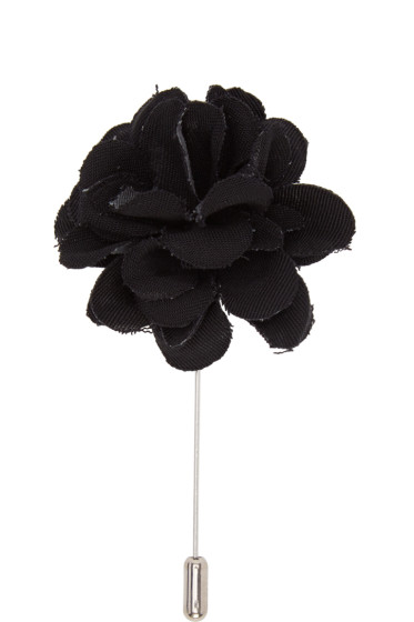 Lanvin - Black Rose Tie Pin