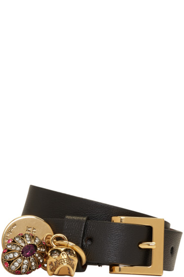 Alexander McQueen - Black Fly Double-Wrap Bracelet