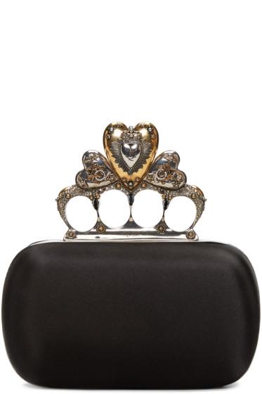 Alexander McQueen - Black Small Heart Knucklebox Clutch
