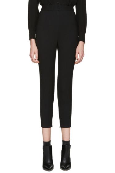 Alexander McQueen - Black Skinny Wool Trousers