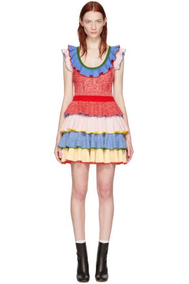 Alexander McQueen - Multicolor Ruffle Dress