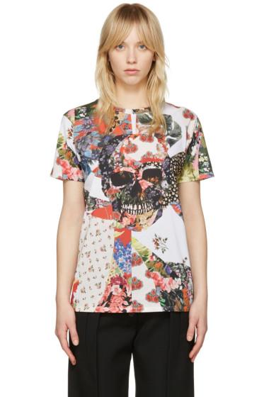 Alexander McQueen - White Floral Skull Classic T-Shirt
