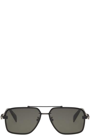 Alexander McQueen - Lunettes de soleil noires Classic Caravan