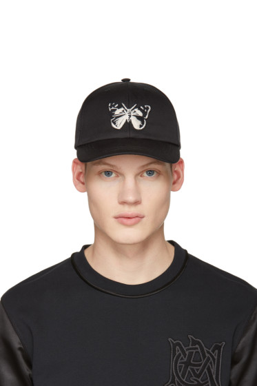 Alexander McQueen - Black Butterfly Cap
