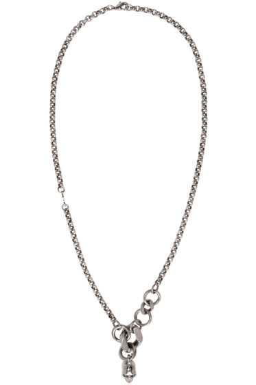 Alexander McQueen - Silver Skull Chain Necklace