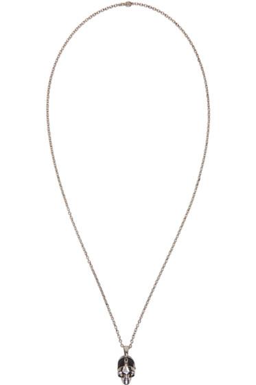 Alexander McQueen - Silver Dominatrix Skull Necklace