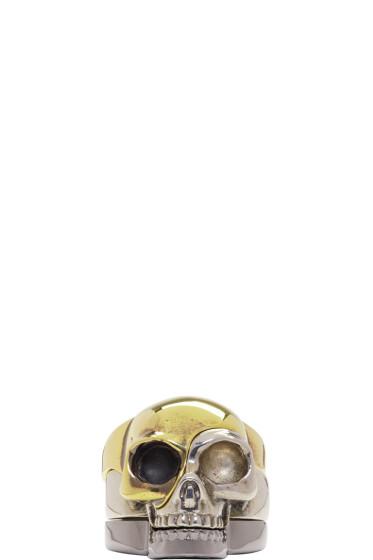 Alexander McQueen - Multicolor Divided Skull Ring Set