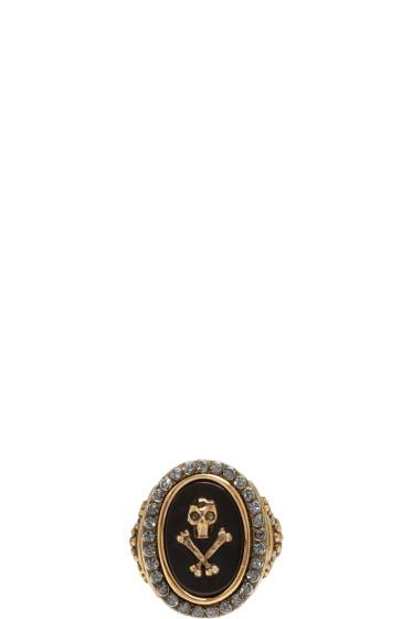 Alexander McQueen - Black Mini Skull Ring