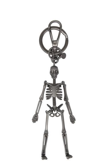 Alexander McQueen - Gunmetal Skeleton Keychain