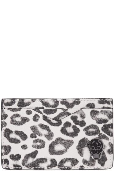 Alexander McQueen - Ivory Leopard Card Holder