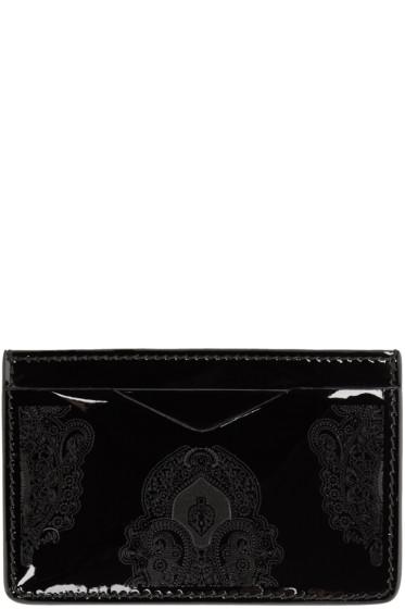 Alexander McQueen - Black Patent Print Card Holder