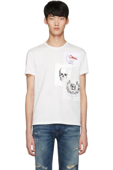 Alexander McQueen - White Patches T-Shirt
