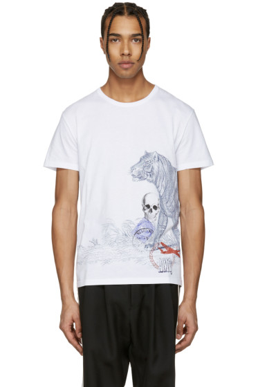 Alexander McQueen - White Tiger & Skull T-Shirt