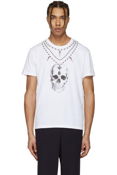 Alexander McQueen - White Skull Necklace T-Shirt