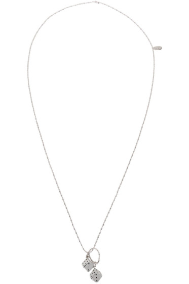 Paul Smith - Silver Double Dice Necklace