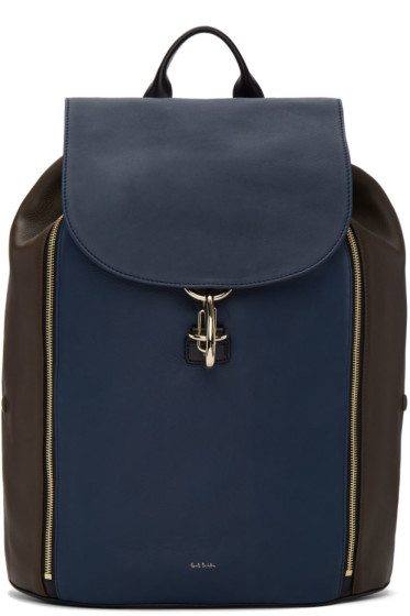 Paul Smith - Tricolor Leather Drawstring Backpack