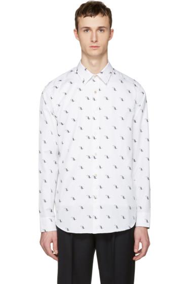 Paul Smith - White Dinosaur Tailored Shirt