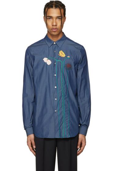 Paul Smith - Blue Flowers & Stems Shirt