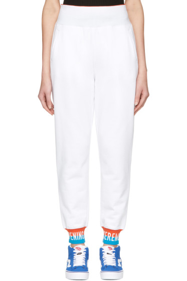 Opening Ceremony - White Elastic Logo Lounge Pants