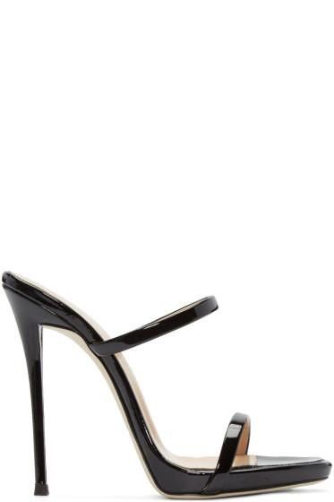 Giuseppe Zanotti - Black Patent Leather Sandals