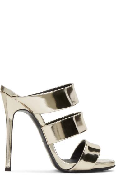 Giuseppe Zanotti - Gold Alien Sandals