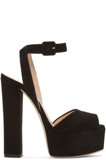 Giuseppe Zanotti - Black Suede Lavinia Platform Sandals