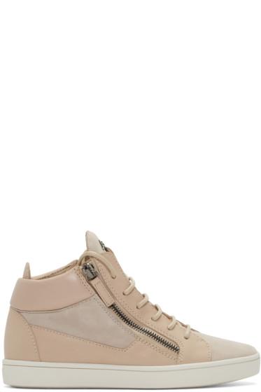 Giuseppe Zanotti - Pink London Mid-Top Sneakers
