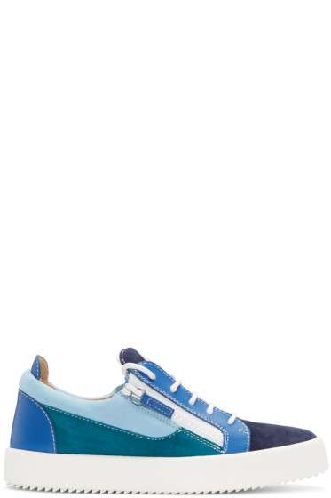 Giuseppe Zanotti - Blue Colorblocked May London Sneakers