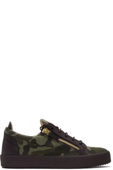 Giuseppe Zanotti - Green Camo Foxy London Sneakers