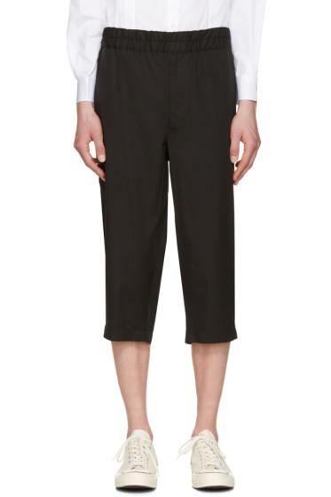 Comme des Garçons Shirt - Black Poplin Workstitch Shorts