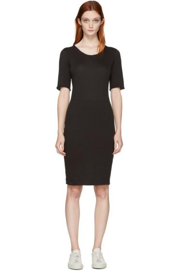 Raquel Allegra - Black Jersey Fitted Dress