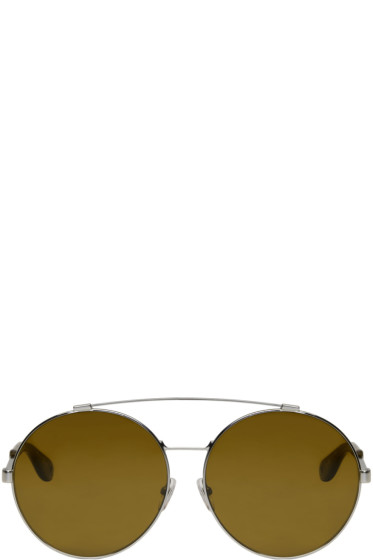 Givenchy - Silver Large Round Sunglasses