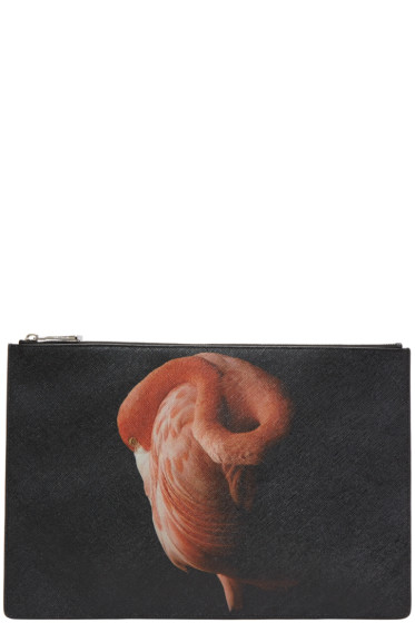 Givenchy - Black Large Flamingo Pouch