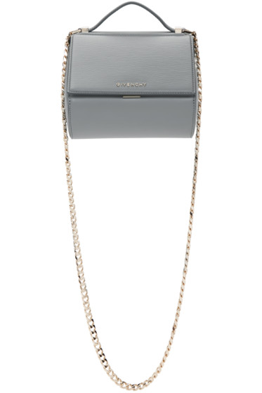 Givenchy - Grey Mini Chain Pandora Box Bag