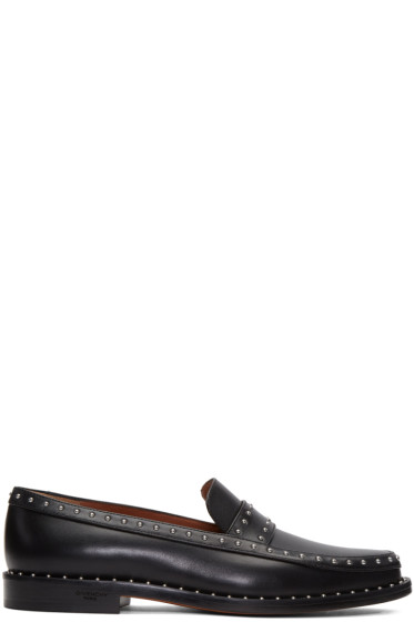 Givenchy - Black Studded College Loafers