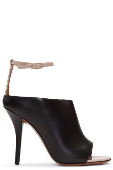 Givenchy - Black & Beige Heeled Sandals