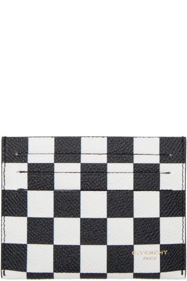 Givenchy - Black & White Check Card Holder