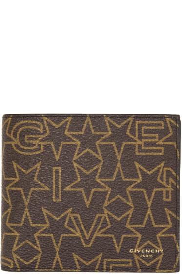 Givenchy - Brown Logo Stars Wallet