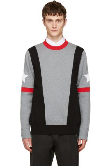 Givenchy - Grey Stars & Bands Pullover